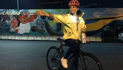 LED cycling jacket
